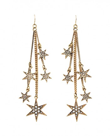 FemNmas-Multi-Star-Drop-Earring-India