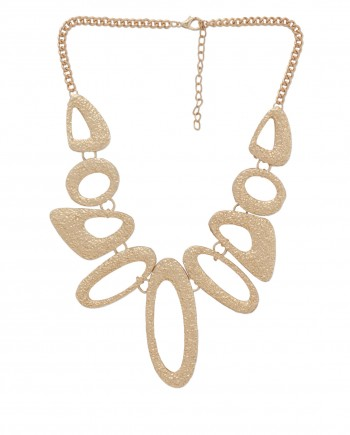 femnmas gold geomatric statement necklace