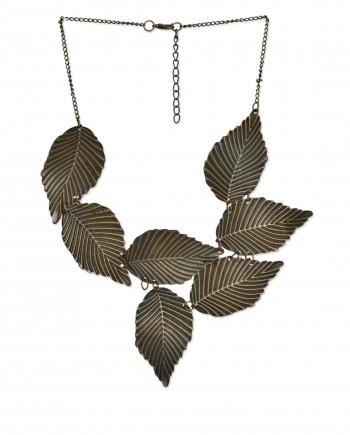 femnmas leaf necklace in india