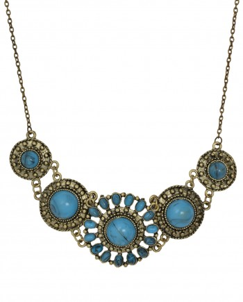 femnmas blue water drop necklace