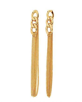 femnmas-golden-chain-tassel-earrings