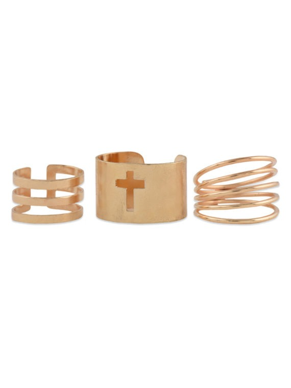 femnmas cross ring set