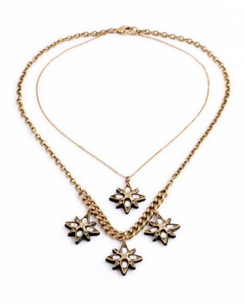 FemLuxe Semi precious star choker necklace