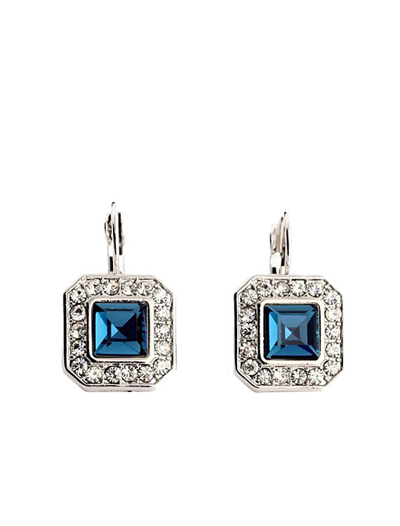 Blue Gemstone Studded Earring