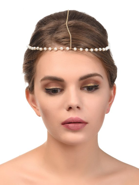 Pearl Hair Chain For Women