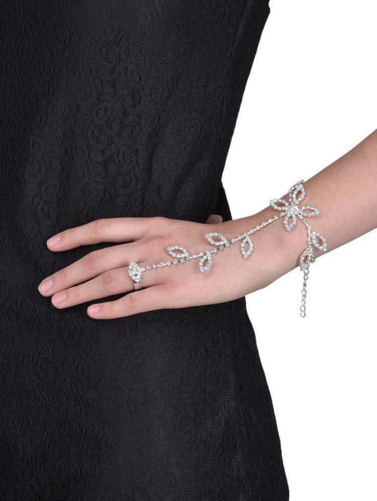 FemNmas ring chain bracelet