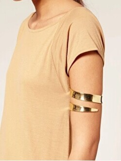 Golden Spiral Arm Cuff For Girls