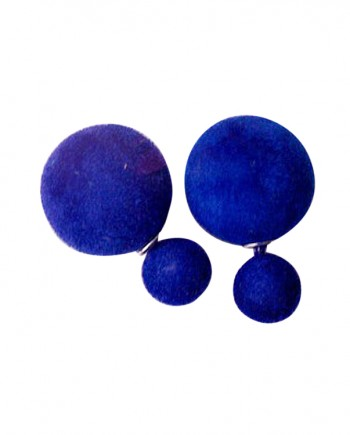 Blue-Cotton-Double-Sided-Earring
