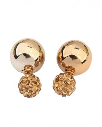 Gold-Two-Ball-pearl-earrings