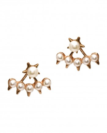 star pearl earring jacket