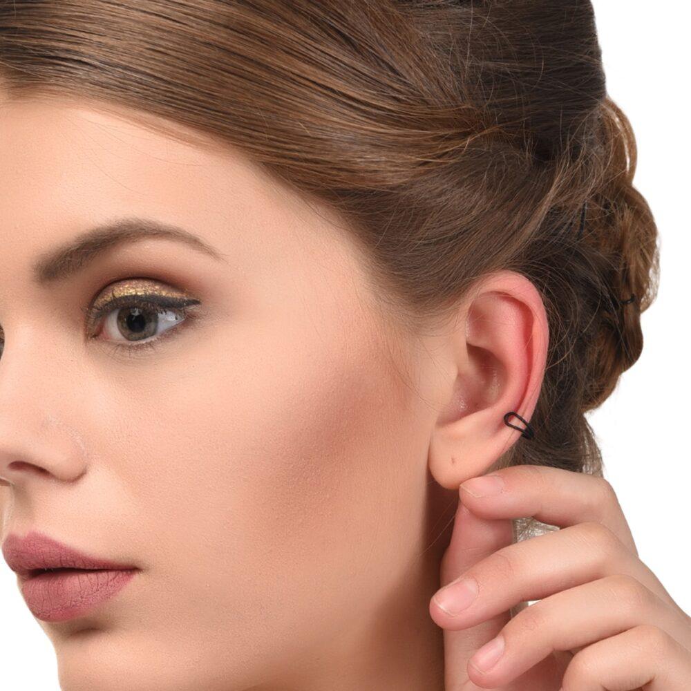 Black Non Pierced Fashion Earrings For Girls