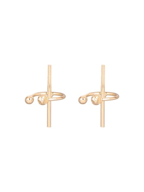 Golden Party Non Pierced Earrings For Girls
