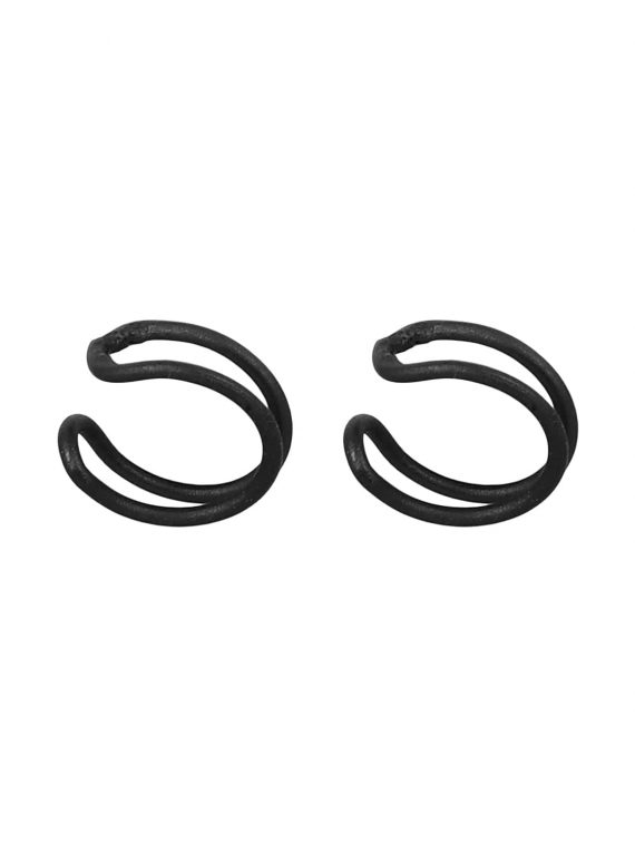 Black U Shape Non Pierced Earrings