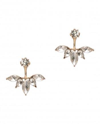 Rose gold earring jacket