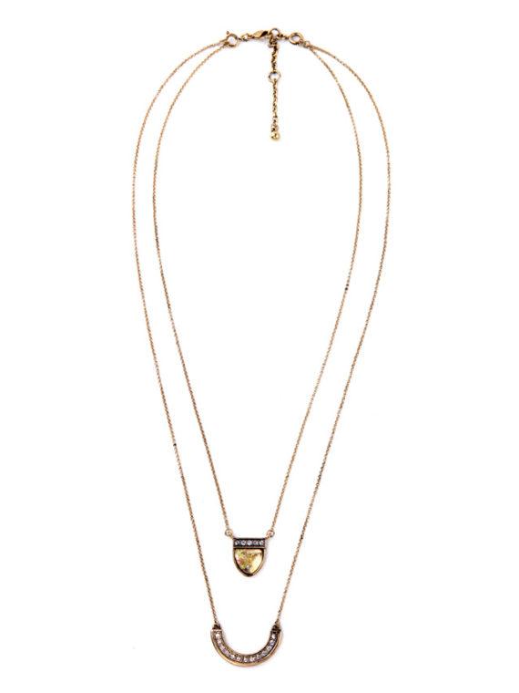 FemNmas double layer pendant necklace