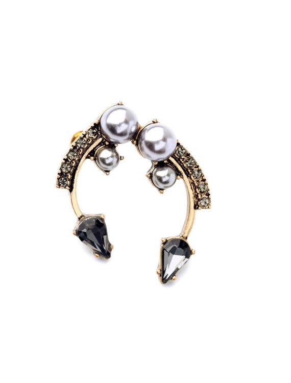 Pearl Curvy studs earrings