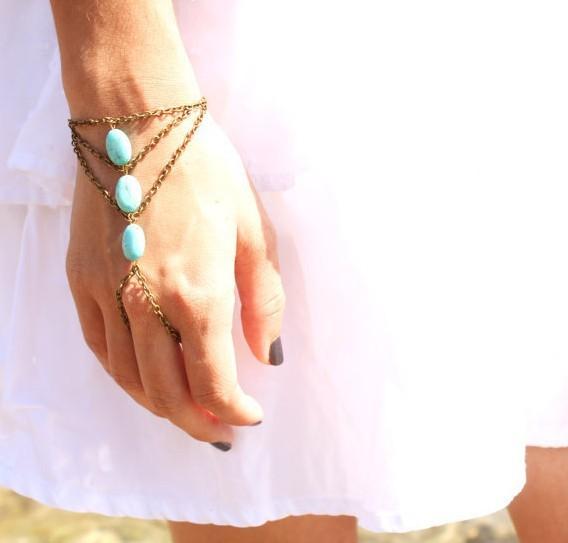 Blue Bead Ring Bracelet Online