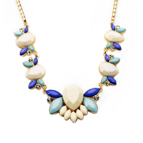 White Statement Necklace India