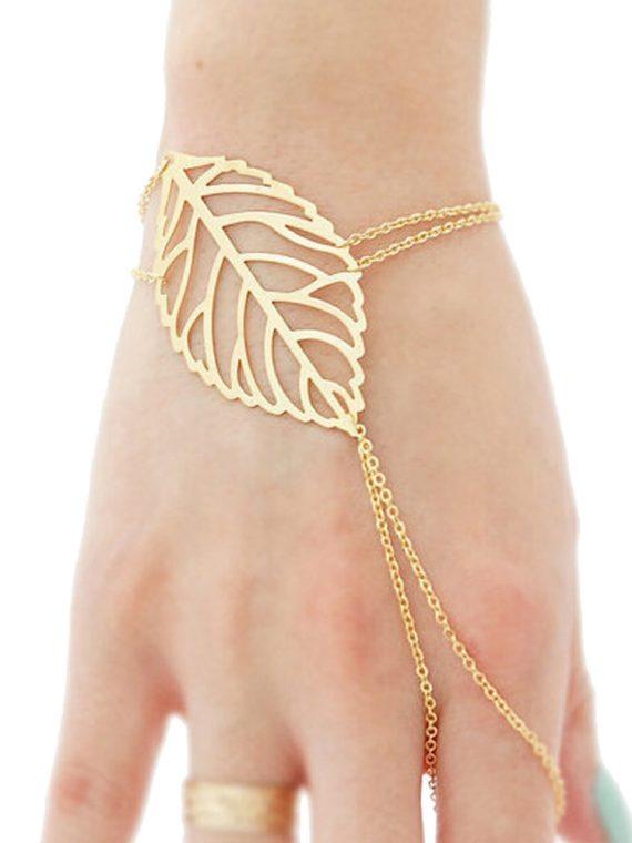 Leaf Ring Bracelet