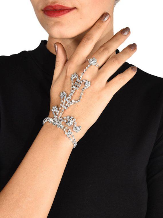 Zircon Ring Chain Bracelet