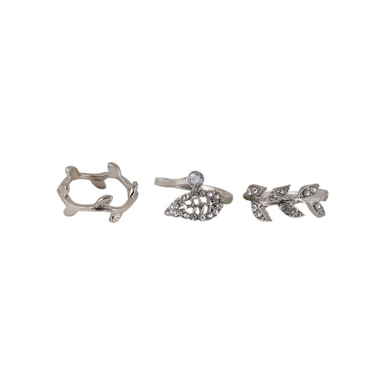Buy Silver Three Ring Set Online in India