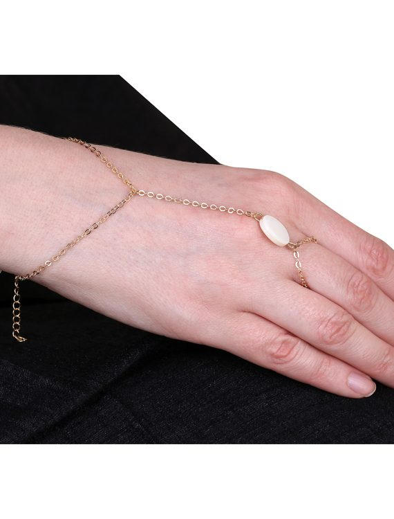 Buy Gemstone Ring Chain Bracelet