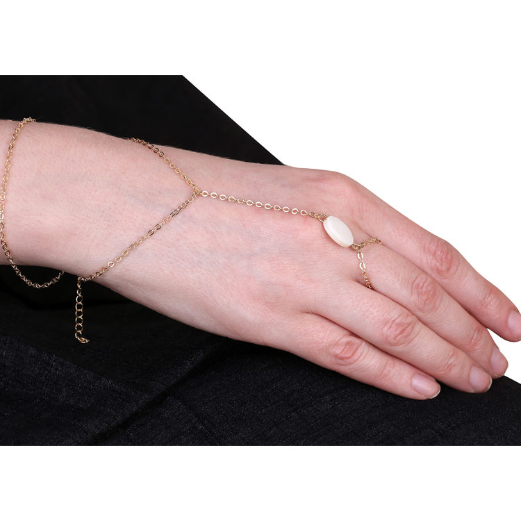 Buy Gemstone Ring Chain Bracelet