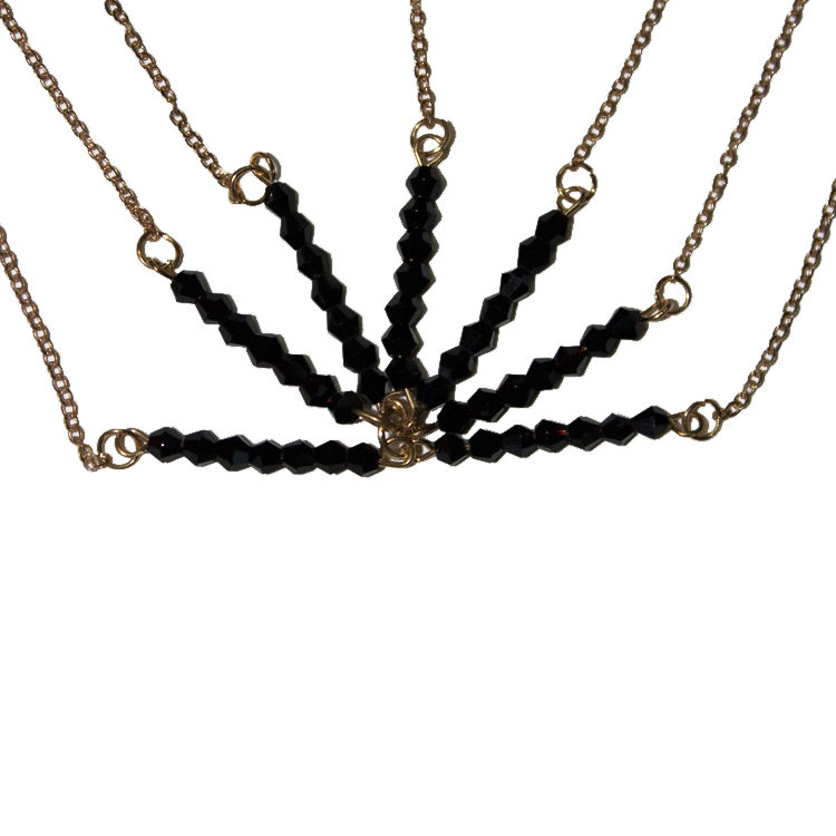 Black Bead Chain For Hair