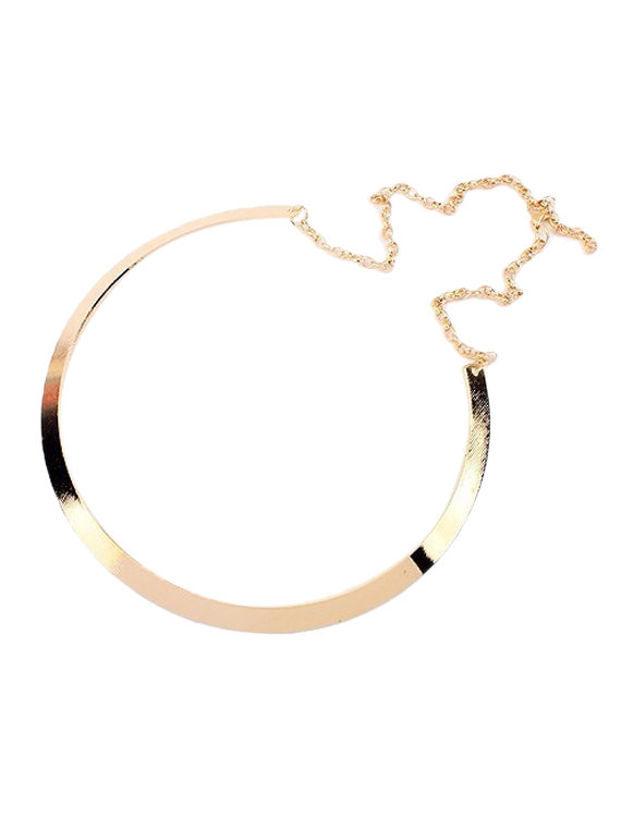 Round Metal Statement Necklace Online India