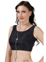 Buy Grey Choker Necklace Online in India