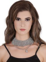 Buy Rhinestone Choker Necklace in India