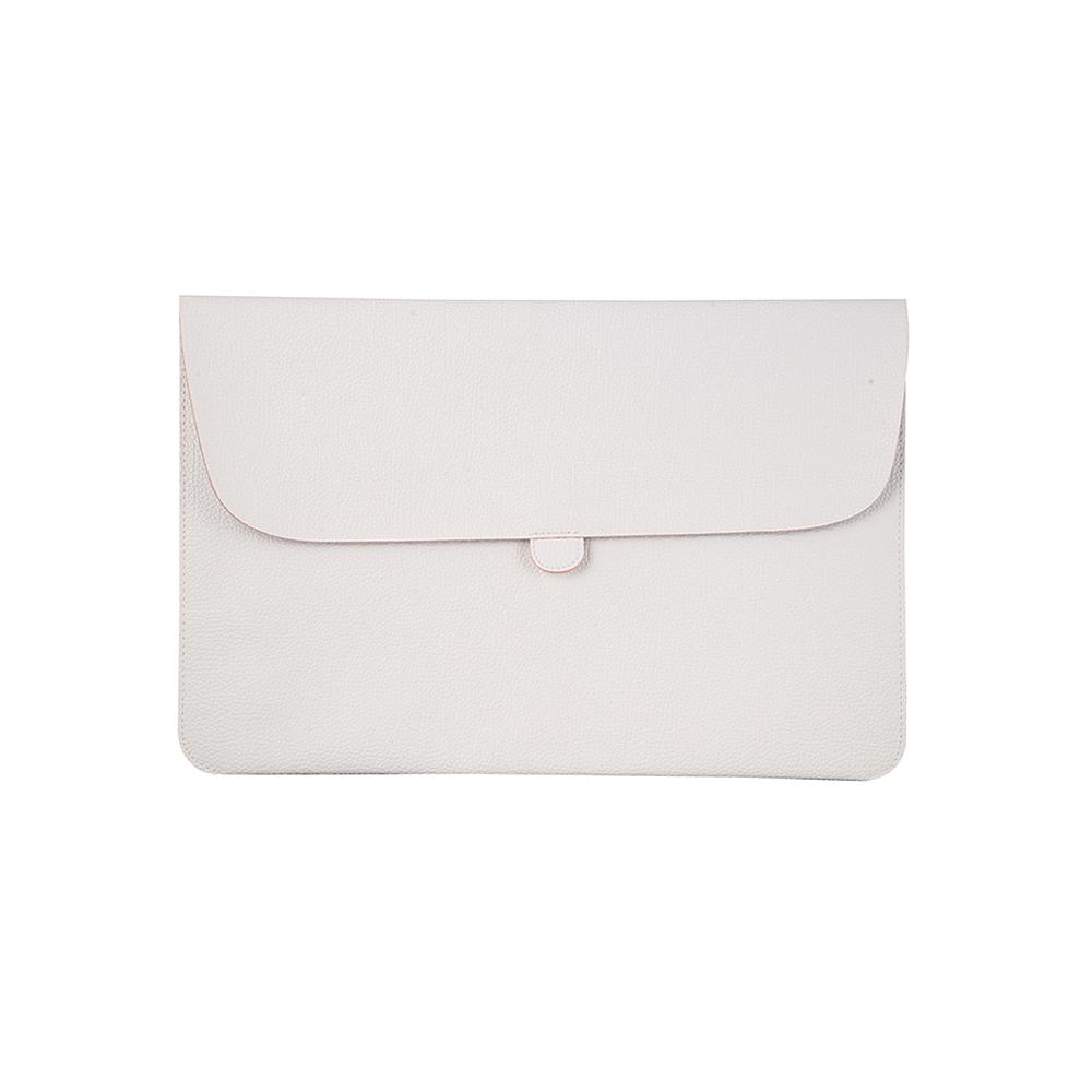 White Leather Laptop Sleeve India