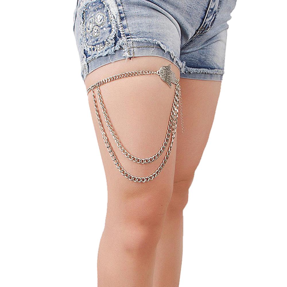 Hand Symbol Leg Chain By Femnmas