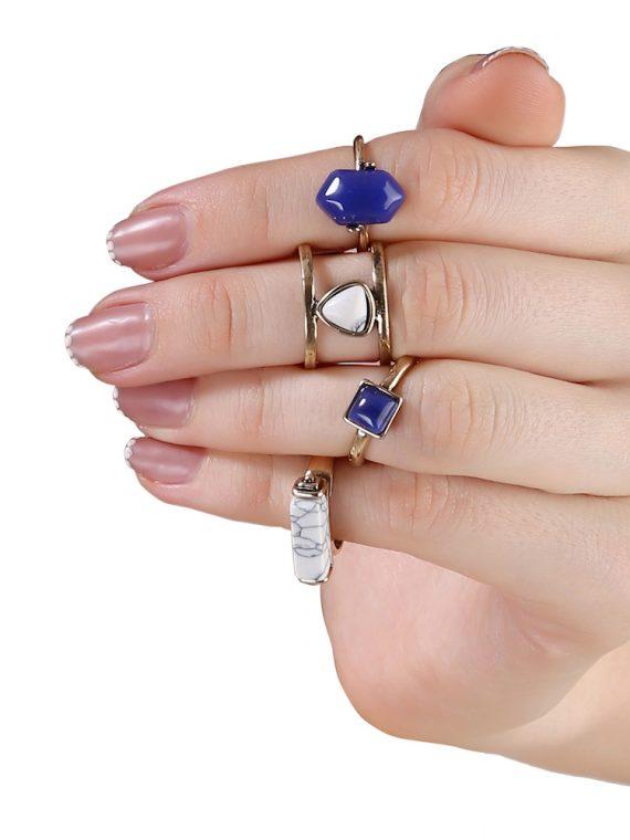 Buy Gemstone Four Ring Set
