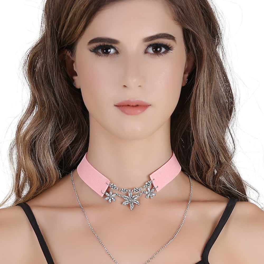 Buy Double Layer Choker Necklace in India