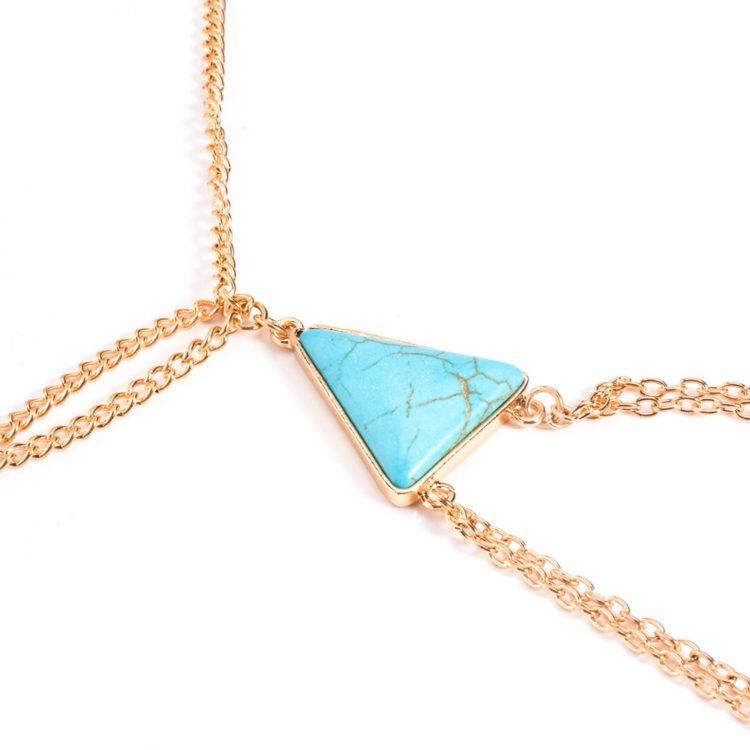 Buy Blue Beads Thigh Chain