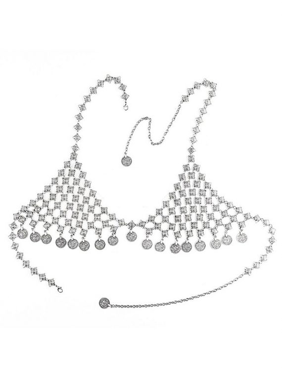 Multi Coin Bra Chain For Girls