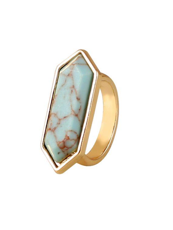 Buy Blue Gemstone Statement Ring in India