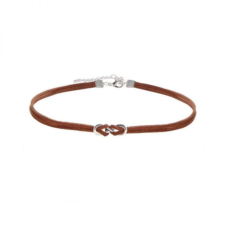 Buy Brown Rope Choker Necklace in India