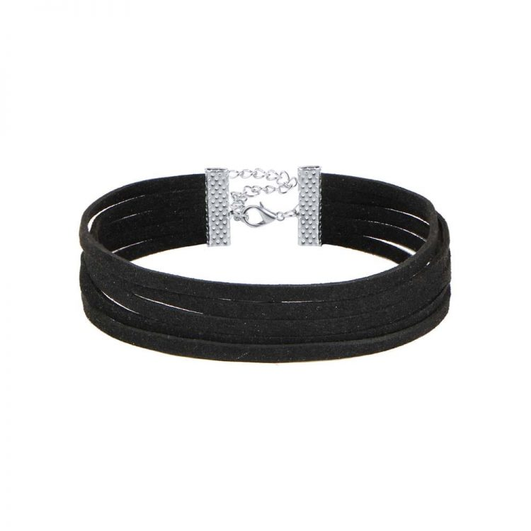 Buy Black Layered Choker Necklace Online
