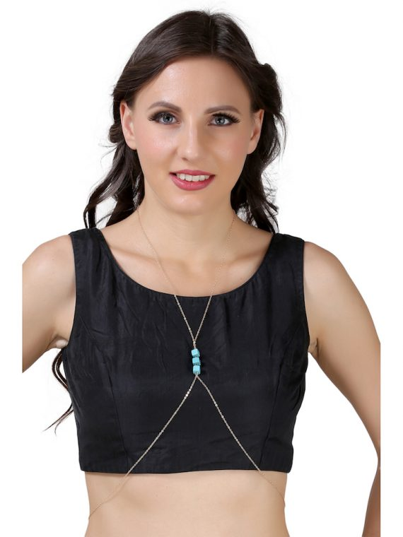Buy Blue Body Chain For Girls