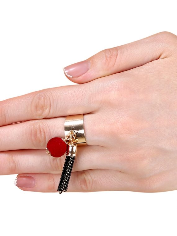 Buy Stone Studded Statement Fashion Ring