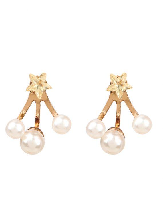 Star Pearl Earrings For Girls