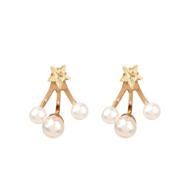 Star Pearl Earrings For Girls