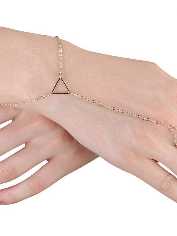 Buy Triangle Ring Chain Bracelet