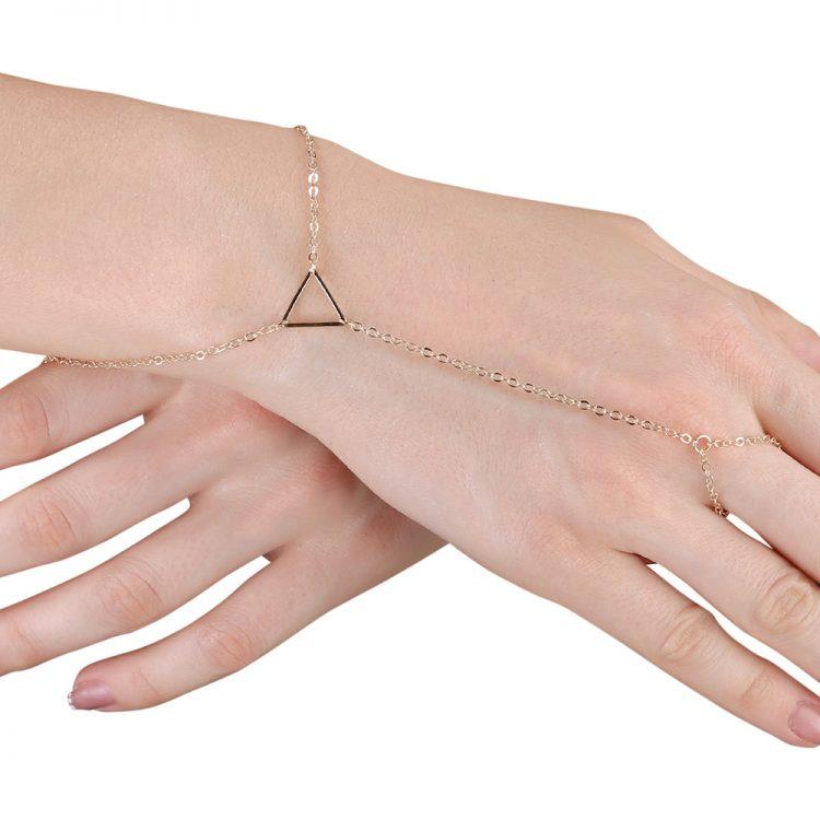Buy Triangle Ring Chain Bracelet