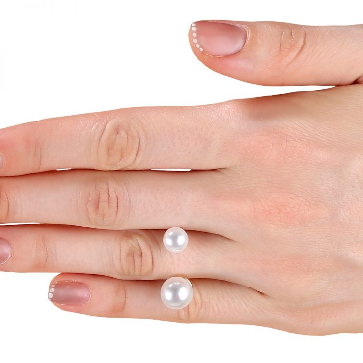 Buy Pearl Double Sided Ring