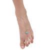 Buy Blue Gemstone Toe Ring Anklet