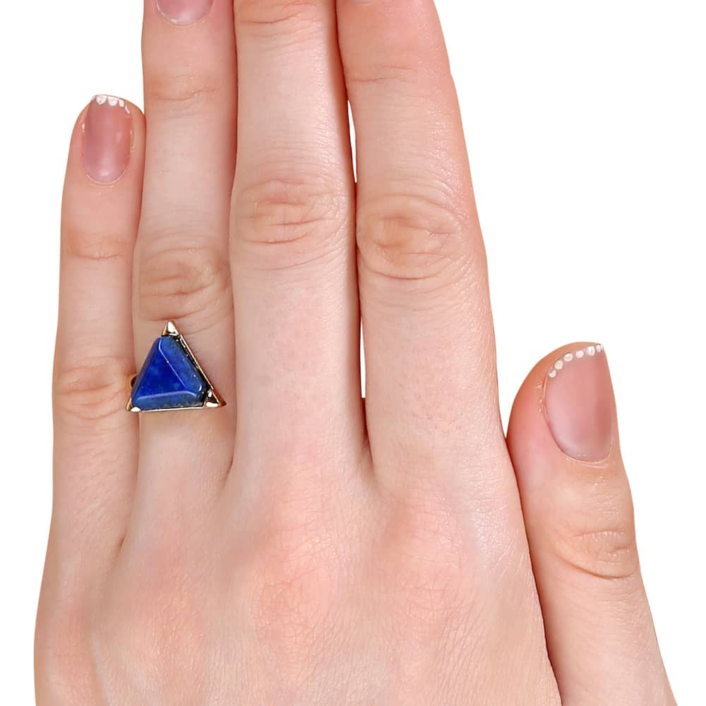 Blue Gemstone Fashion Ring Online in India