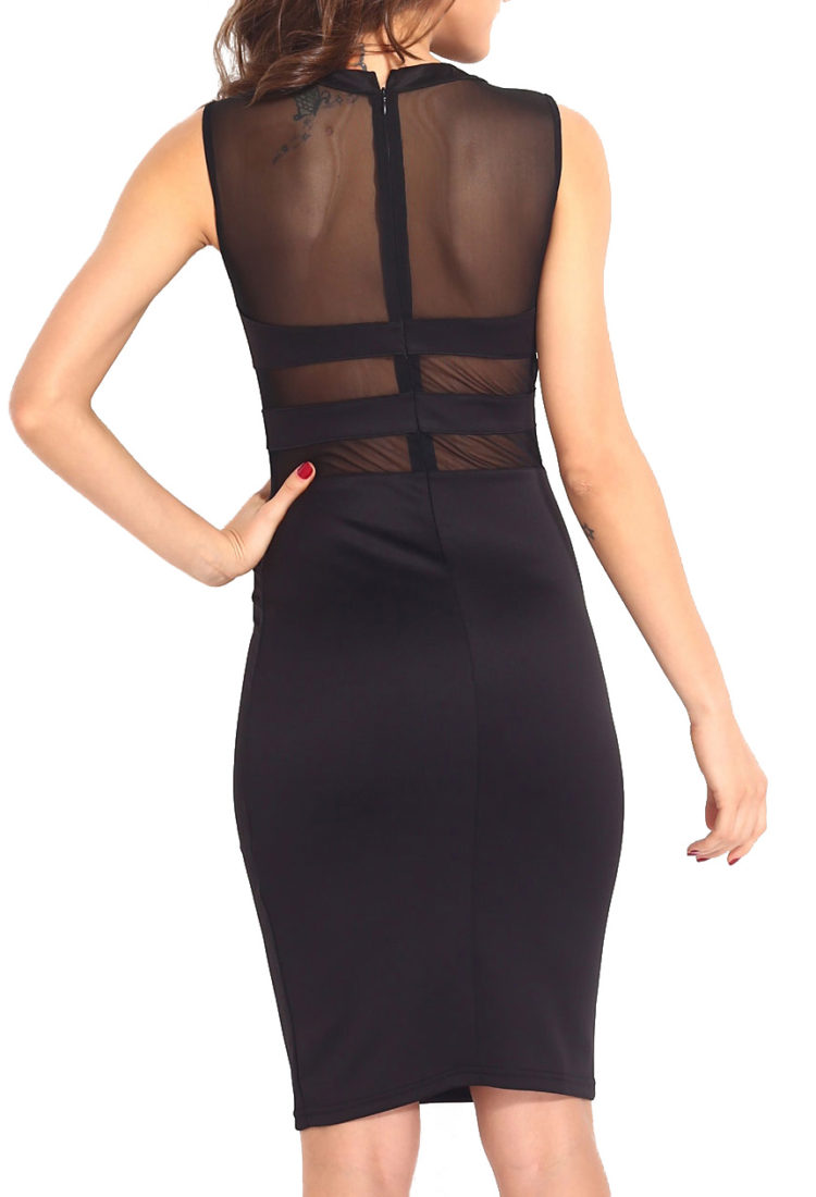 Buy Black Transparent Party Dress Online in India